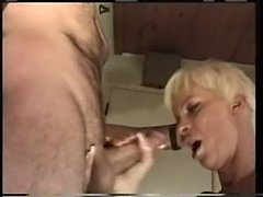 Housewife blonde fucked in her nasty pussy