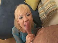 An eldritch blonde babe enjoys a big dick in her tight ass