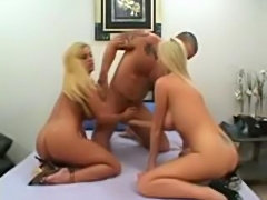 Two Big Tit Blondes Get Stuffed!
