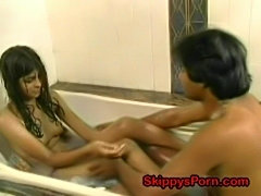 Shy indian teen in the shower  free