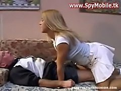 Hot blonde daughter fucked with old man  free
