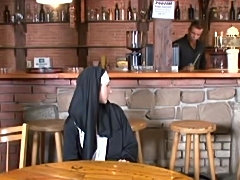 Nun's Double Duty In The Pub
