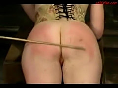 Girl in corset spanked with stick sucking and fucked with st free