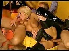 Great hardcore clip starring petite Brigitta Bulgari in an awesome latex dress