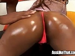 Ebomy girl gets fucked by black dude.