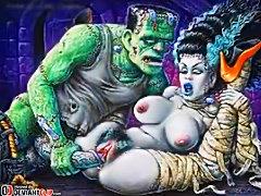 Spooky Halloween Hentai Hardcore