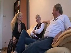 Lucky Older Man Has Sex With Mom And Daughter