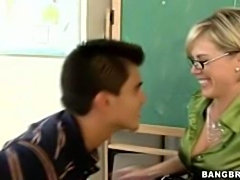 Stunning Milf teacher gets her pussy crushed and facialized