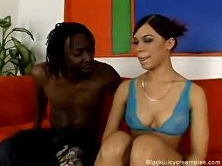 Round booty ebony Chyanne creampie fucked