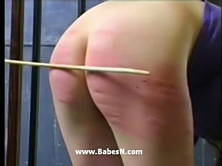Gorgeous blonde spanked  free