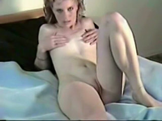 Horny milf plays with her pussy  free
