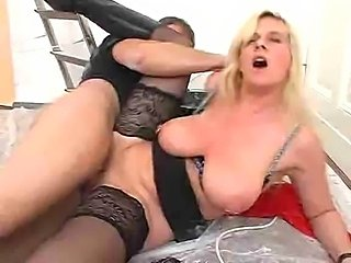 Big titted and slim German ladies get down and dirty.