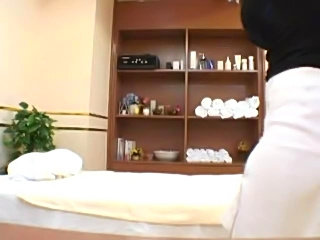 Massager seduces young woman during a medical massage in a health spa. She gets so aroused that she even lets the massager fuck her at the end.