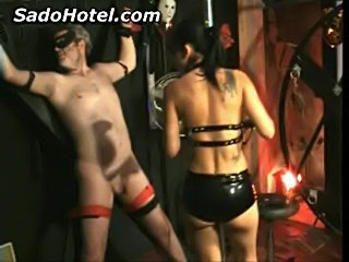 Mistress kicking balls of her slave  free