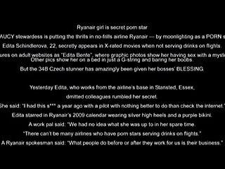 Ryan Air Stewardess dose porn Edita Bente Ryanair's 2009 calendar  Video at the end after photos