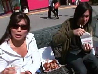 Brothas fuckin lil asians.  This chick takes the dick like a champ