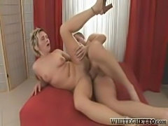 Tasty short-haired older woman craves cock