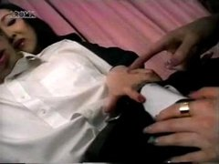 Femdom Japan Mistress Tied Her Male Slave up and gives him a handjob - Lame...
