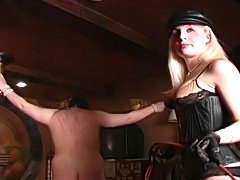 mistress whips slave
