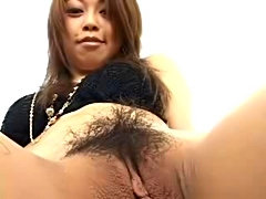 Asian gal in sexy stocking sex