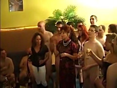 Desperate german slutwives have fun in a swingers party. Blonde wife gets...
