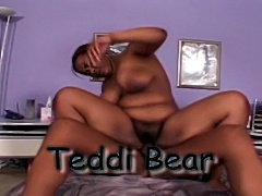 Teddi Bear - black hairy bbw girl from Hairy Black Snatch 2