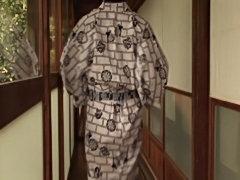 Mature Fat Asian in Kimono, Human table