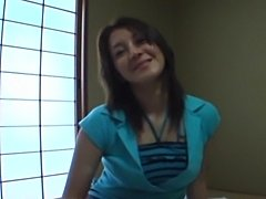 Asian amateur gal creampied in motel