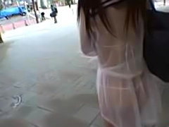 Cute asian girl in transparent uniform fucked in outdoor public parks &...