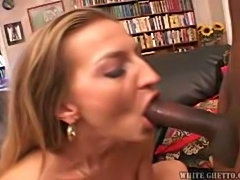 Horny Mommy Welcomes A Big Black Cock In Her Snatch