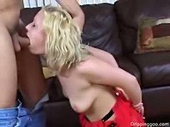 Spanked ass slut anal pounding creampie