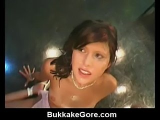 Bukkake on german brunette  free