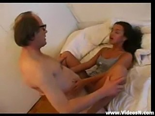 Arab girl with old man  free