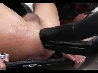 Guy fucked by big Strap-on