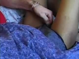 Asian women giving hand job