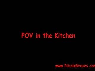 POV fuck in the kitchen