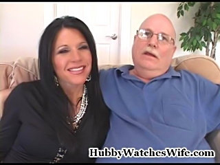 Kendra's husband has had the fantasy of watching her with another man for quite some time. They found us online and requested to be introduced to one of our well hung younger studs. She loved his sexy body and the chemistry between them was out of this w