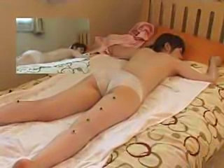 Masseur fingerfucks his client