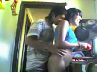 Indian students kitchen doggyfucked