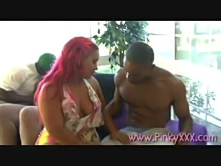 pinky & ms. cleo get oiled up & take a pounding