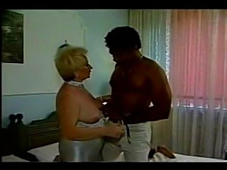 BBW Granny fucks with a black guy