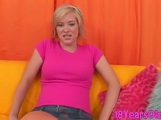 Innocent  teen blonde Naomi Cruise sucking dick and sofa sex doggystyle