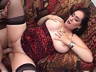 Big natural tit slut enjoys fucking hard