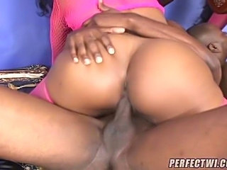 Watch as this horny slut gets a big black cock shoved into her pussy! This whore likes tasting her wet pussy juices on a cock when she wraps her lips around it!