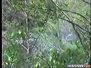 Voyeur Filmed Hot Outdoor Amateur Blowjob With Cam