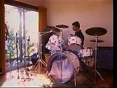 Drummer girl .vintage