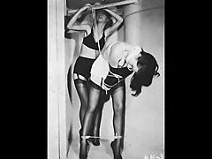 1940s 50s 60s S&M B&D Betty Page picture collage...