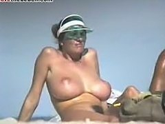 Big tits on the beach  The classic