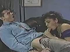 Peter North makes a brown girl moan