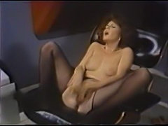 Commander of the Eros Starship masturbates with dildo ST69